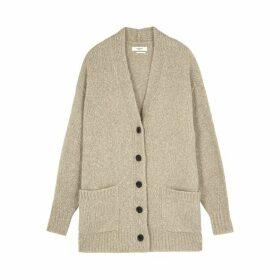 Isabel Marant Étoile Scott Taupe Chunky-knit Cardigan