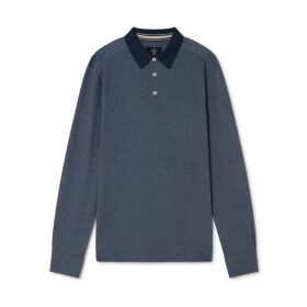Hackett Oxford Cotton Pique Long-sleeved Polo Shirt