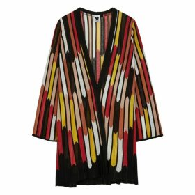 M Missoni Striped Fine-knit Cardigan