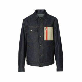 Burberry Postcard Motif Japanese Selvedge Denim Jacket