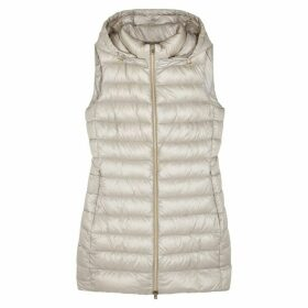 Herno Light Grey Quilted Shell Gilet