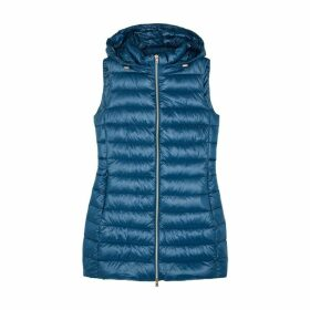 Herno Blue Quilted Shell Gilet