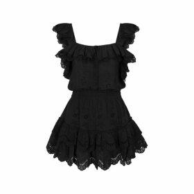 LoveShackFancy Marina Eyelet-embroidered Cotton Mini Dress