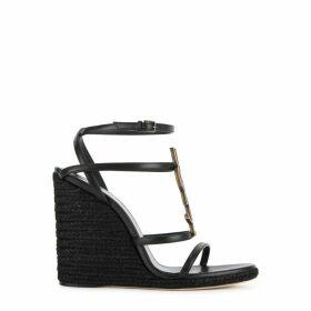 Saint Laurent Cassandra 115 Black Sandals
