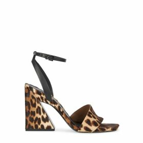 Mercedes Castillo Serafina 100 Leopard-print Calf Hair Sandals