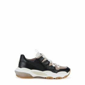 Valentino Garavani Bounce 50 Black Leather Sneakers