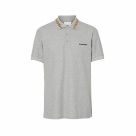 Burberry Icon Stripe Detail Cotton Pique Polo Shirt