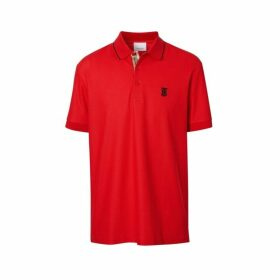 Burberry Icon Stripe Placket Cotton Pique Polo Shirt