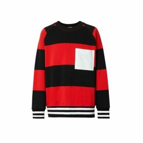 Burberry Rugby Stripe Cotton Sweatshirt