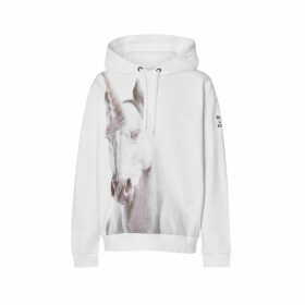 Burberry Unicorn Print Cotton Hoodie