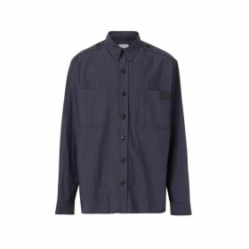 Burberry Crinkled Cotton Blend Shirt