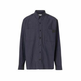 Burberry Crinkled Cotton Blend Shirt