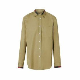 Burberry Logo Detail Cotton Poplin Shirt