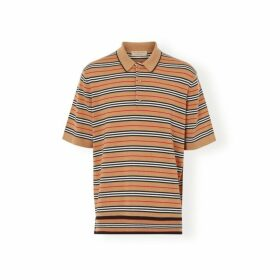 Burberry Icon Stripe Merino Wool Polo Shirt