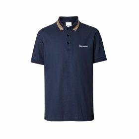 Burberry Icon Stripe Detail Cotton Pique Polo Shirt