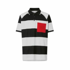 Burberry Rugby Stripe Tipped Cotton Pique Oversized Polo Shirt