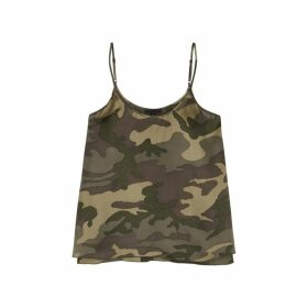 ATM Anthony Thomas Melillo Camouflage-print Silk Top