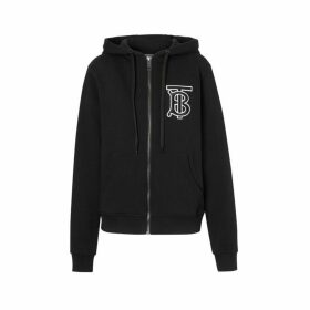 Burberry Monogram Motif Cotton Oversized Hooded Top
