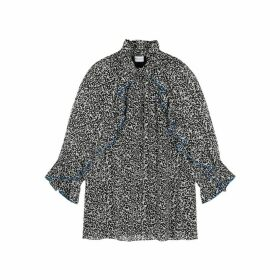 Hofmann Julia Monochrome Speckle-print Blouse