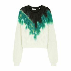 A.L.C. Elinor Tie-dye Knitted Cotton-blend Jumper