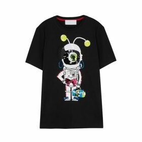 No Ka 'Oi Astronaut Embellished Cotton T-shirt