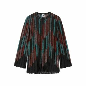 M Missoni Striped Metallic Fine-knit Top