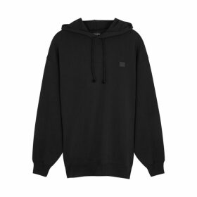 Acne Studios Farrin Face Hooded Cotton Sweatshirt