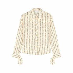 Chloé Ivory Chain-print Silk Shirt