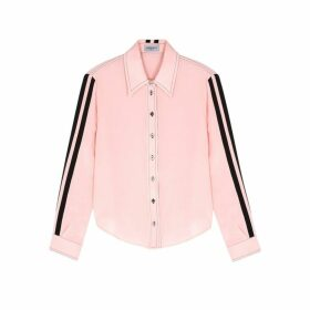 Serena Bute Serena Light Pink Striped Silk Shirt