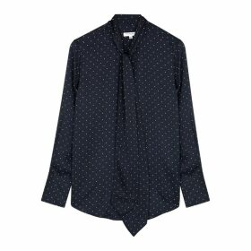 Equipment Luis Polka-dot Satin Shirt