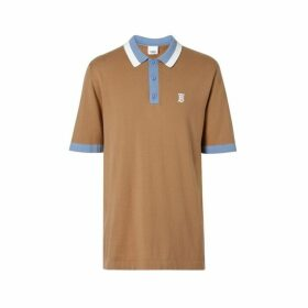 Burberry Monogram Motif Tipped Cotton Polo Shirt