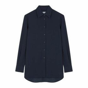 Filippa K Dark Navy Matte Satin Shirt
