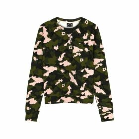 The Upside Bondi Printed Stretch-jersey Sweatshirt