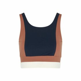 Vaara Poppy Navy Stretch-jersey Bra Top