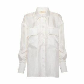 Lisou Alanna Boyfriend Silk Shirt