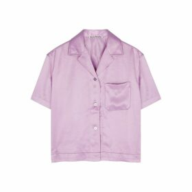 Acne Studios Lilac Satin Shirt
