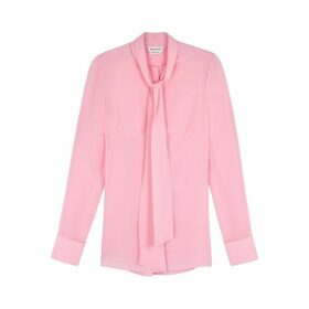 Alexander McQueen Light Pink Silk Shirt