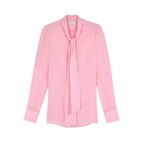 Alexander McQueen Pink Silk Crepe De Chine Shirt