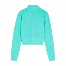 Cotton Citizen Milan Turquoise Cotton Sweatshirt