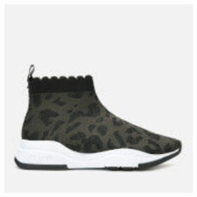 Ted Baker Women's Waverli Leopard Knitted Sock Trainers - Black