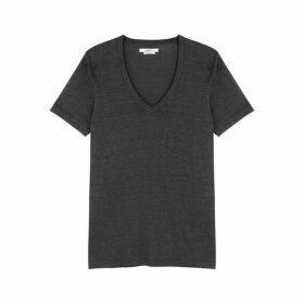Isabel Marant Étoile Kranger Grey Linen T-shirt