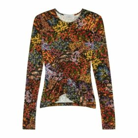 Preen By Thornton Bregazzi Floral-print Stretch-jersey Top