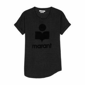 Isabel Marant Étoile Koldi Logo-print Linen T-shirt