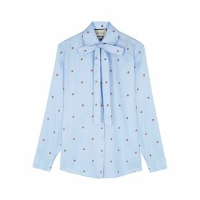Gucci Blue Strawberry Fil Coupé Shirt
