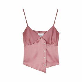 Nanushka Abio Pink Satin Top