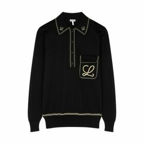 Loewe Black Embroidered Cotton Sweatshirt