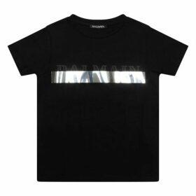 Balmain Silver Stripe T-shirt