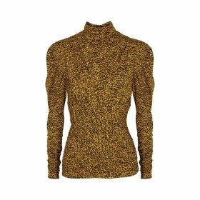 Isabel Marant Jalford Printed Stretch-knit Top