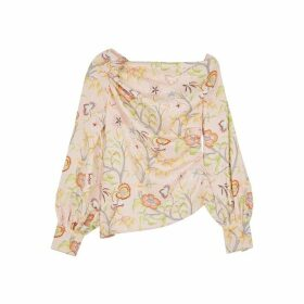 Peter Pilotto Floral-print Cloqué Satin Top