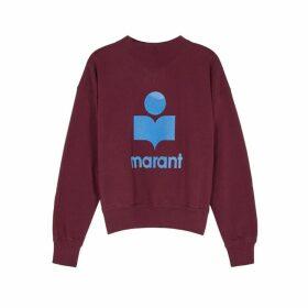 Isabel Marant Étoile Moby Logo Cotton-blend Sweatshirt